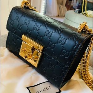 Authentic Gucci padlock bag small